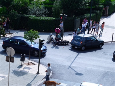 Accidentalidad de las motos en Madrid